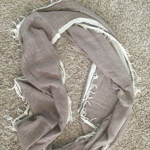 Casual brown circle infinity scarf